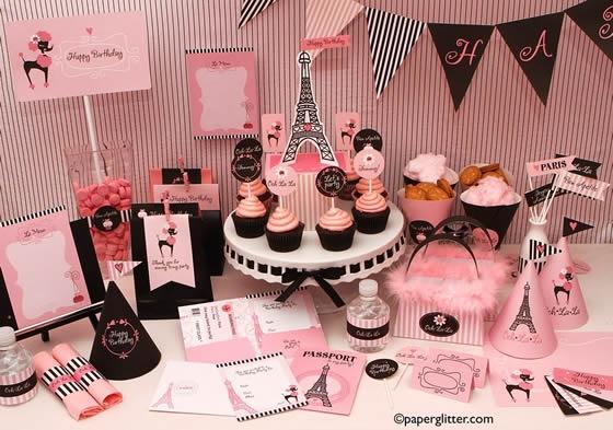 Chá Bar temático - Lua de mel: Paris - papergliter