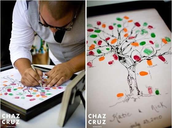 Árvore de Digitais com assinatura em casamentos