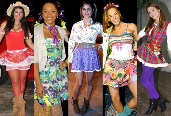 famosas vestidas para festa junina