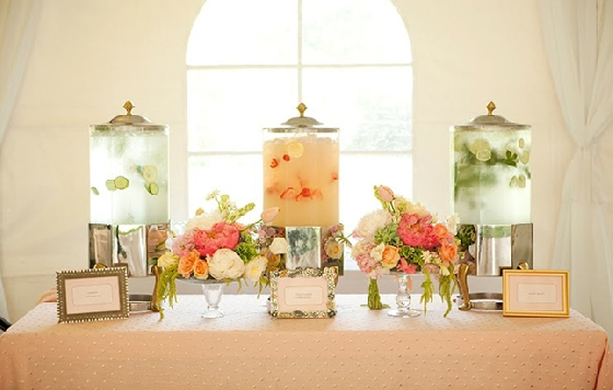 Águas aromatizadas - a first class wedding