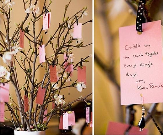 Árvore dos desejos em casamentos