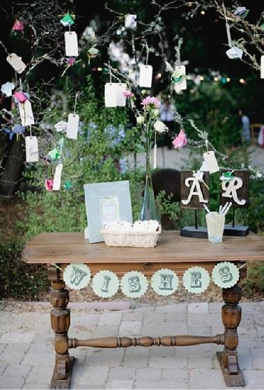 Casamento ao ar livre - árvore dos desejos -