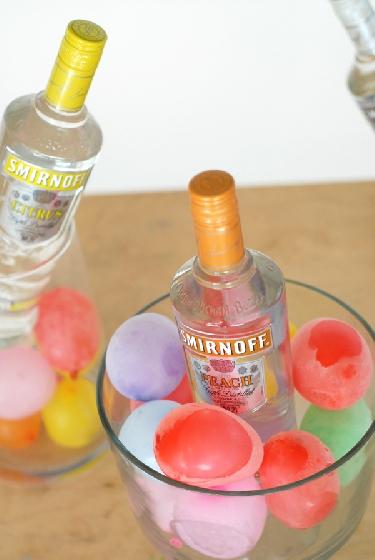 Balões de água para gelar bebidas