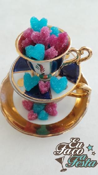 Corações, cubos e torrões de açúcar