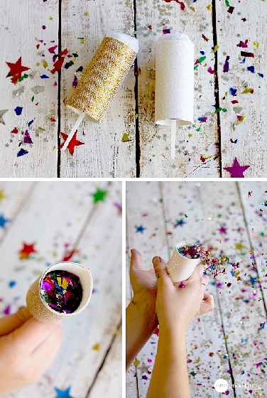 Faça você mesmo - Lança confetes push up