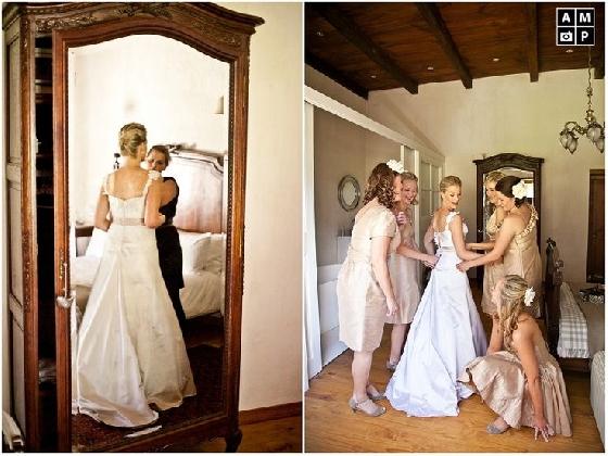 Dia de noiva com madrinhas
