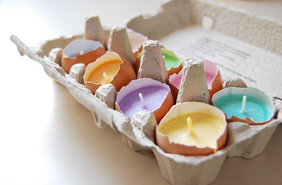 Como fazer velas com casca de ovo