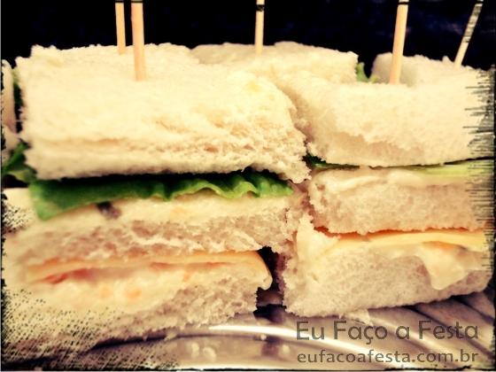 Eu Faço A Festa Mini Sanduíche Vegetariano Eu Faço A Festa