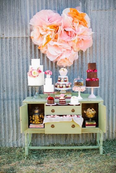 Cômodas, aparadores e gavetas para decoração de festas