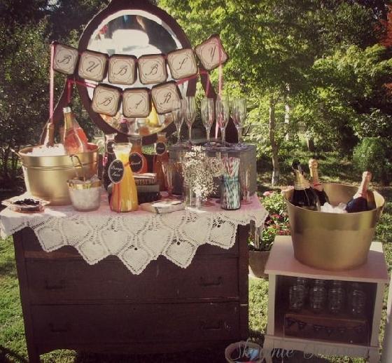 Bar espumante para chá de barnela - Catch My Party
