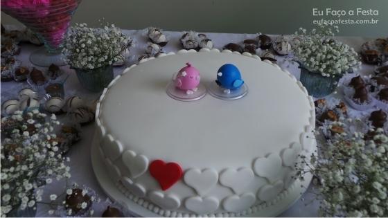 Decoração de noivado - passarinhos - Portal de Eventos Eu Faço a Festa