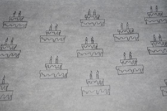 Desenho para rocambole estampado - sugarforthebrain