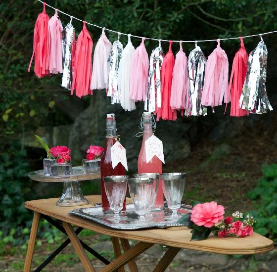 Tassel garland para festa - lavenderandlinen