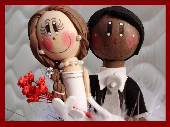 Topinhos para bolo de casamento