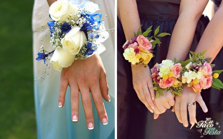 Corsages coloridos para casamento
