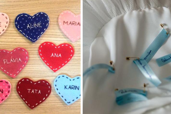 Opções para nomes no vestido da noiva