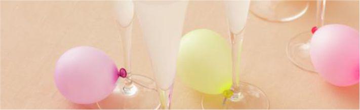 Mini balões para recados nas taças