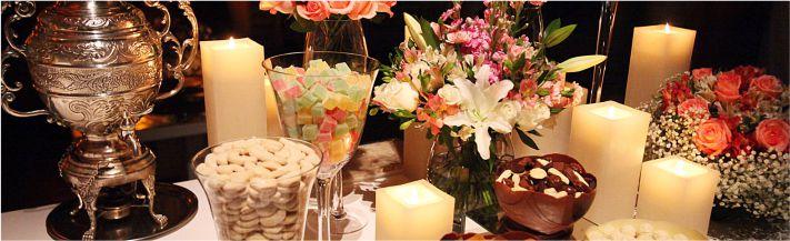 Mesa de café ou digestivos para festas