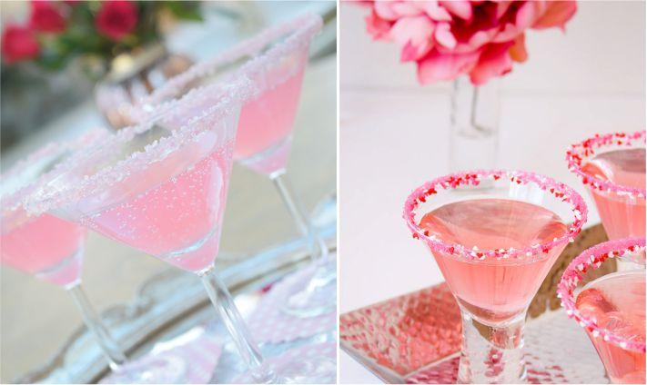 Decoração com acúcar para servir drinks