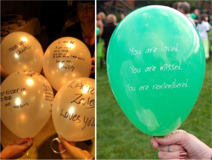 balões para homenagear entes falecidos