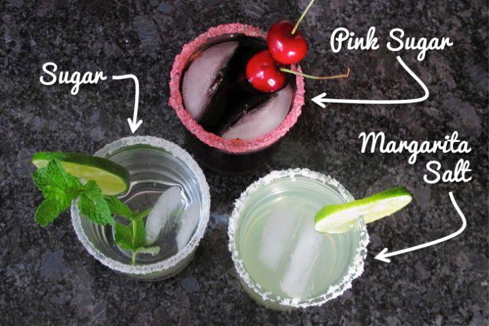 Borda de sal para drink