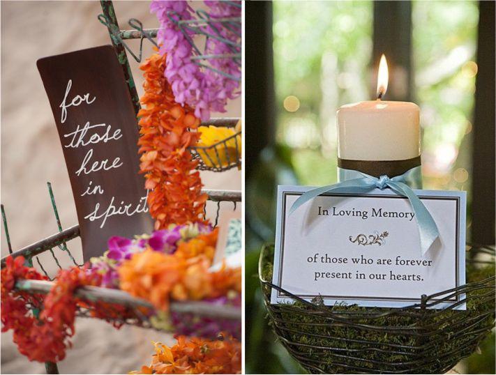 objetos decorativos para homenagens em casamentos