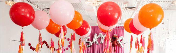balões para comemorações modernas