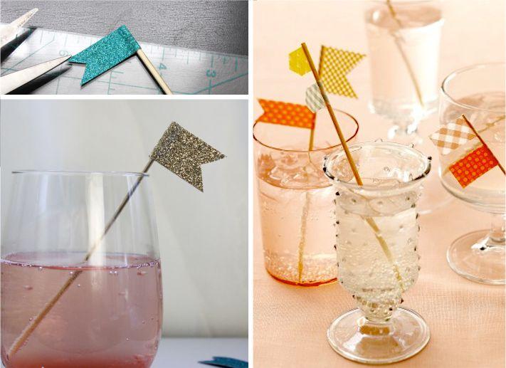 Bandeirinhas para misturador de drink