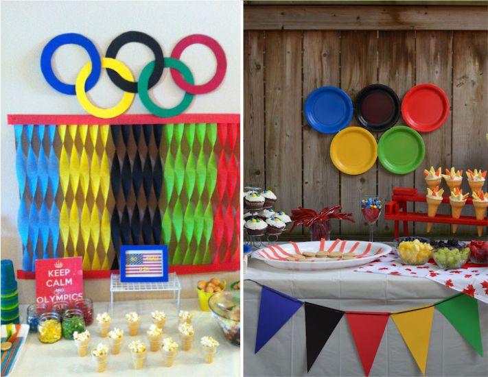 Decoração festa olímpica