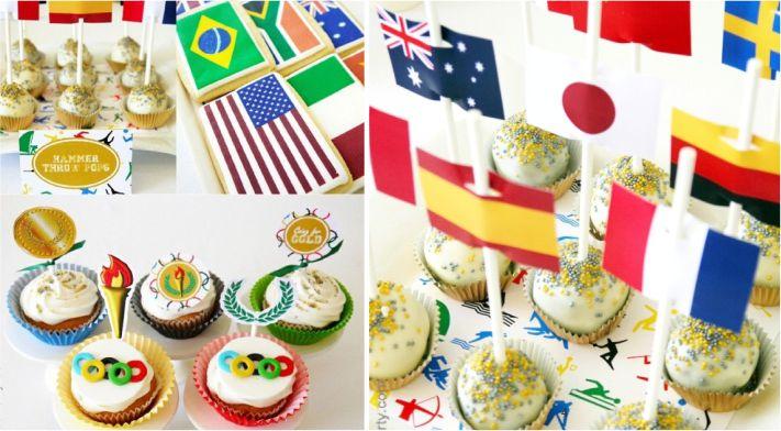 Decoração para petiscos festa olímpica