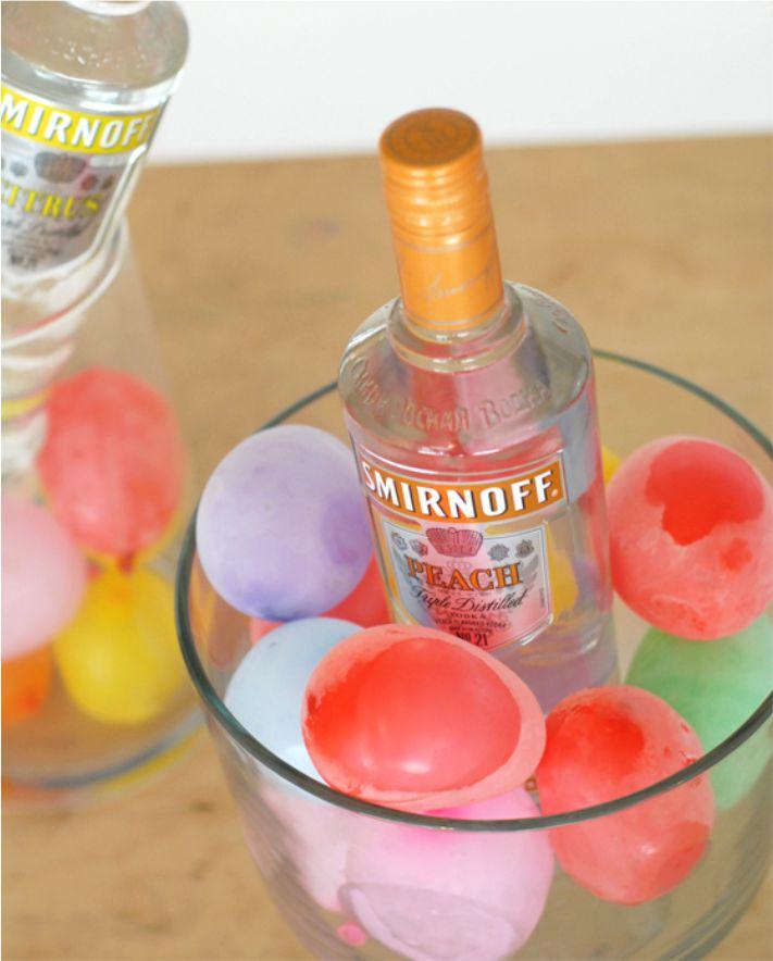 Gelar as bebidas com balão