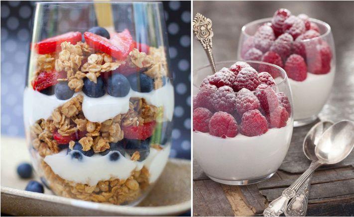 iogurte para café da manhã