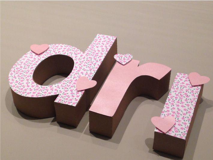 Letras 3D scrap festa
