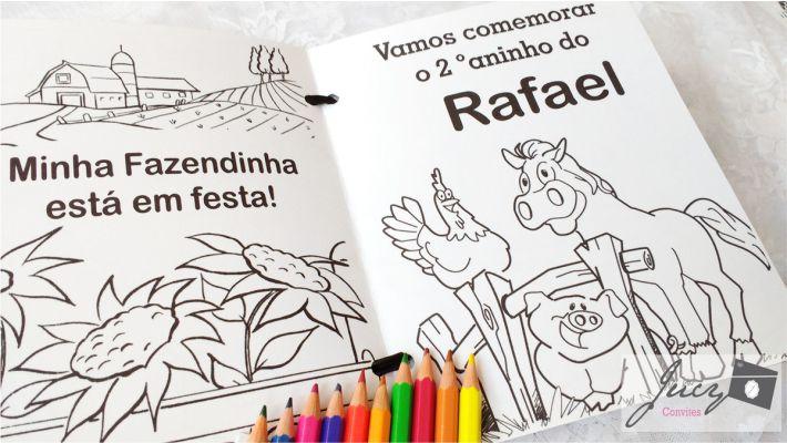 Convite infantil para colorir