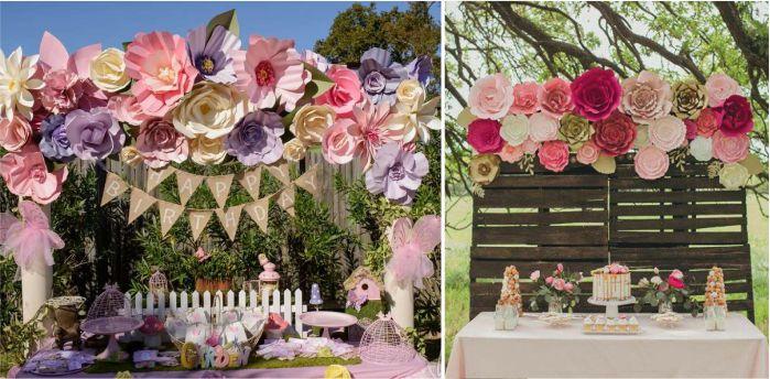 Flores gigantes para decoração