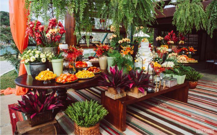 Flores tropicais para festas