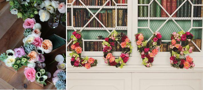 Letras com flores