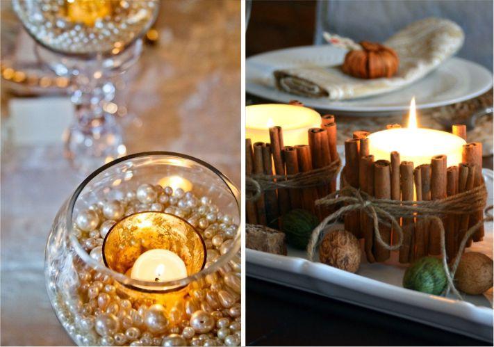 Velas para mesas de festa