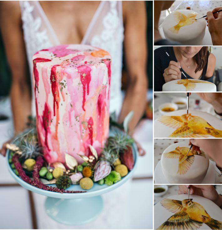 Bolo artístico para casamentos