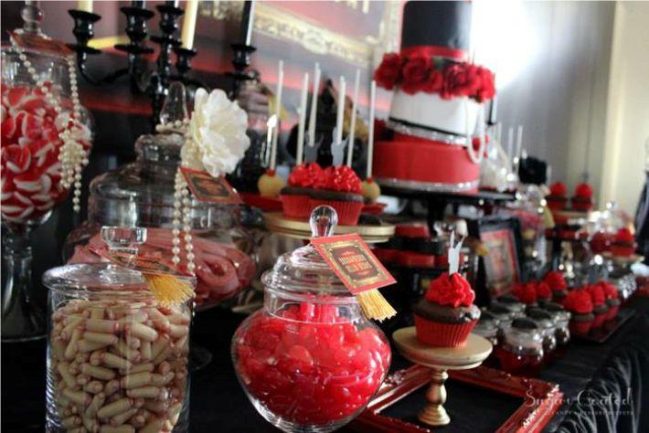 Mesa de doces molin rouge