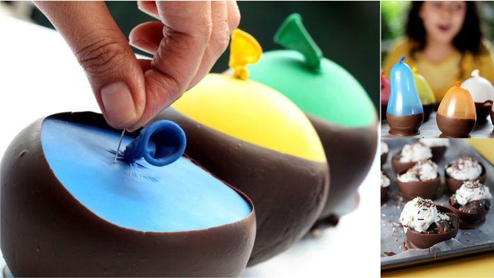 Bowl de chocolate comestivel