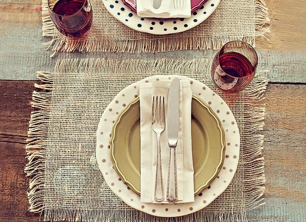 Juta para composição de mesa