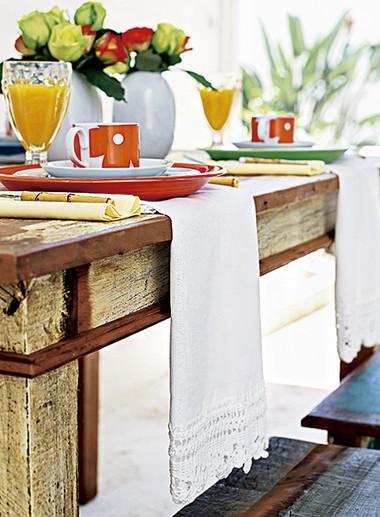Pano de prato na mesa
