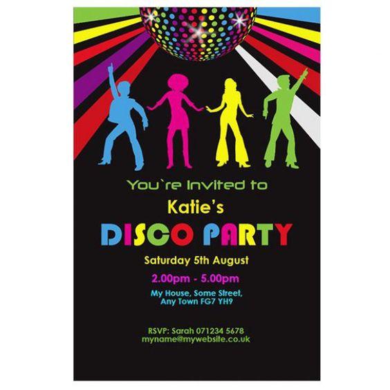Convite para festa anos 80